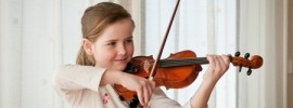 Learning to play violin