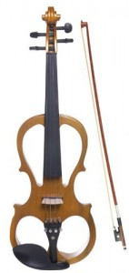Cecilio 4/4 CEVN Solid Wood Maple Metallic Electric/Silent Violin