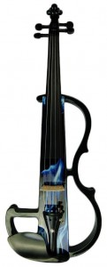 Kinglos 4/4 Full Size Ebony Fitted Solid Wood Violin