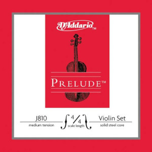 D'Addario Prelude Violin String Set 44 Scale, Medium Tension