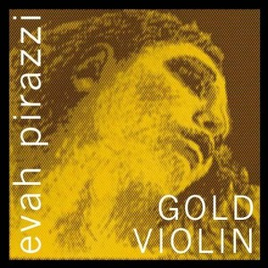 Pirastro Evah Pirazzi Gold Violin String Set - Gold Wound G - Ball E - Medium Gauge