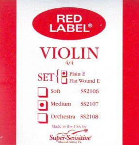 Super Sensitive Steelcore 44 Violin Strings Set