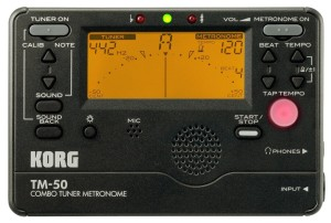 Korg TM50BK Instrument Tuner and Metronome