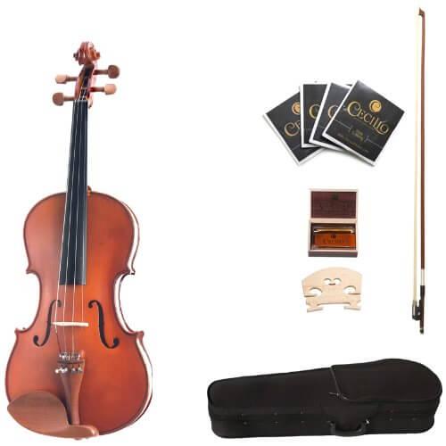 Cecilio CVA-400 15-Inch Solid Wood Flamed Viola