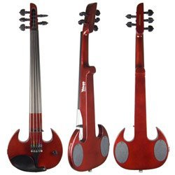 SV5 Mark Wood Red Stingray 5-string Electric Violin Or Viola With Free Bow and Case