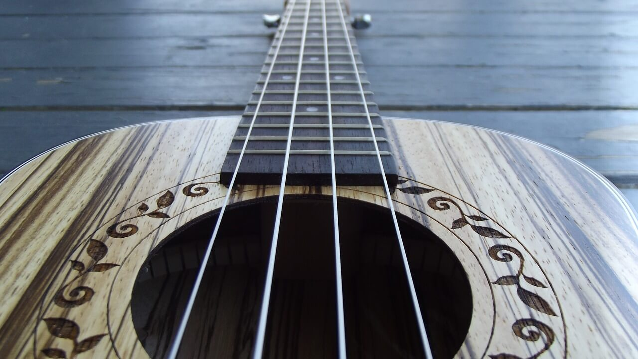 closeup ukulele
