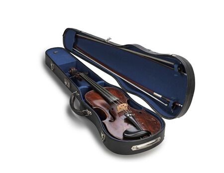 violin in a hard case