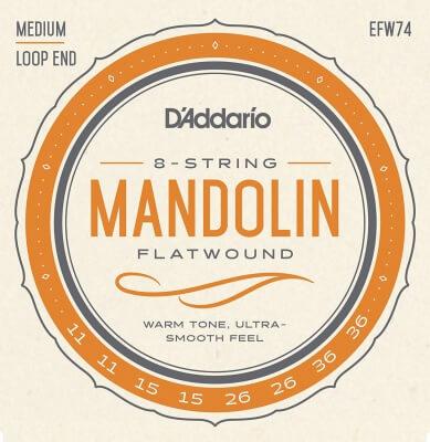D'Addario EFW74 Flatwound Mandolin Strings