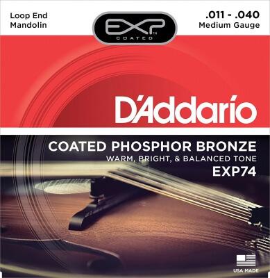 D'Addario EXP74 Coated Phosphor Bronze Mandolin Strings