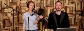 electric and acoustic violin recording