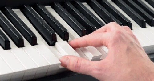 weighted keys on a keyboard