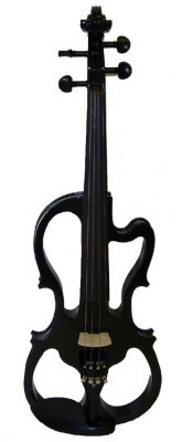 Merano Ebony Fitted Electric Silent Violin