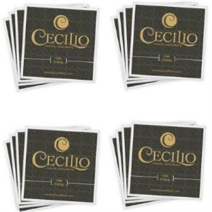 Cecilio 4 Packs of Stainless Steel 44 - 34 Violin Strings Set