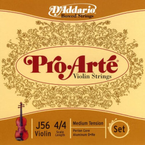 D'Addario J56 44M Pro-Arte Nylon violin Strings, Medium