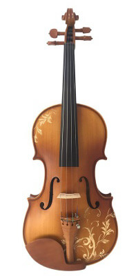 Kinglos Carved Solid Wood Violin Kit