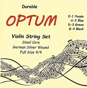 Optum Violin String Set - 44 Medium Tension