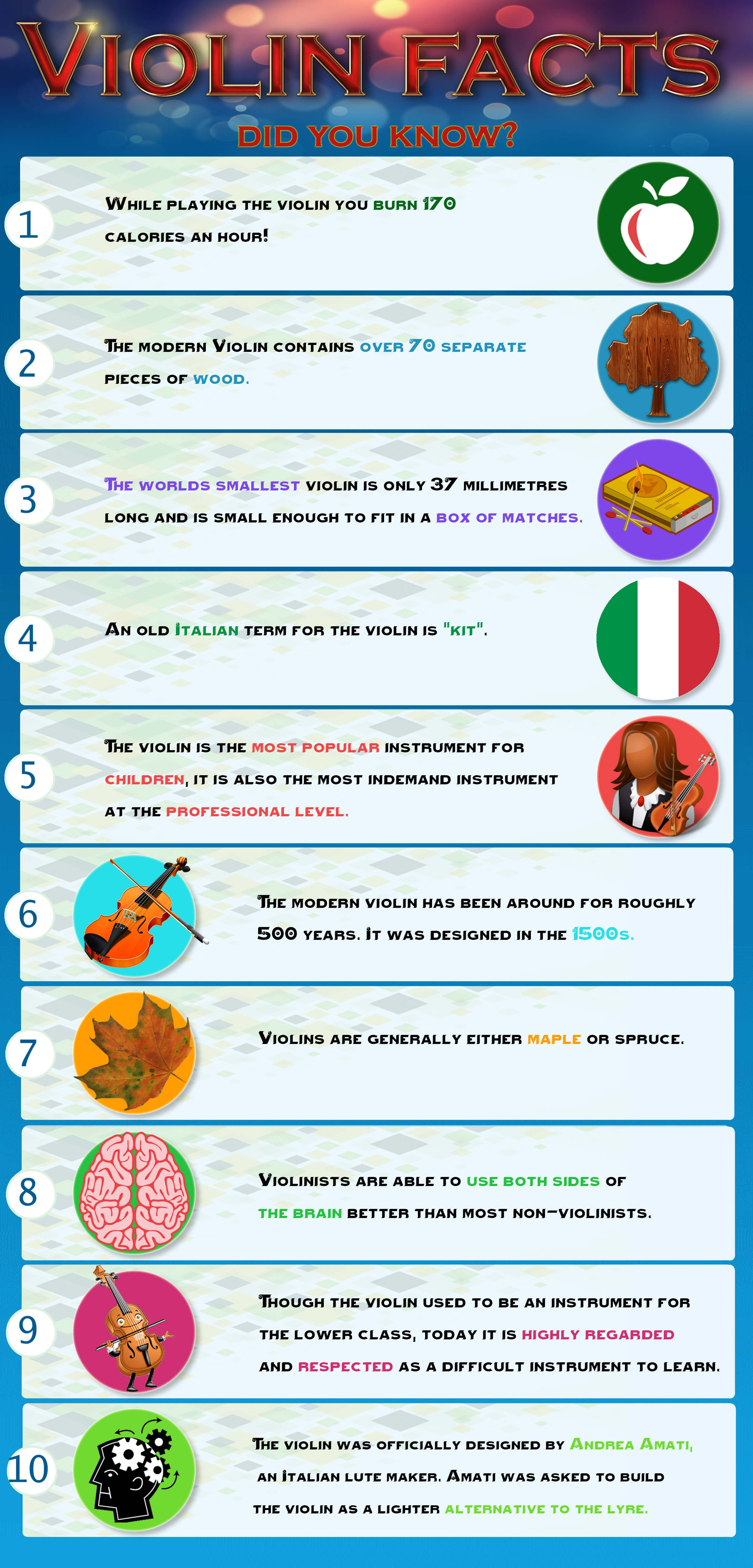 Infographic: Violins facts