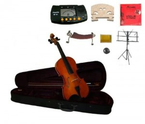 Merano MA100-15 15-Inch Student Viola Case and Bow with Extra Set of Strings, Extra Bridge, Shoulder Rest, Metro Tuner