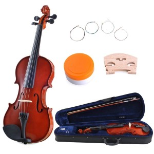 ADM 1/4 Solid Wood Student Violin Starter Kit
