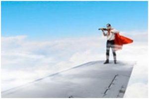 violin and plane