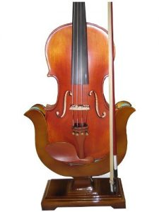 Violin and Bow Wooden Holder (Stand), Great Design, Safe and Stronghold