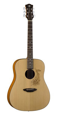 Luna Gypsy Series Henna Acoustic Guitar