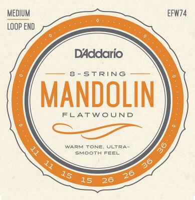 D'Addario EFW74 Flatwound Mandolin Strings