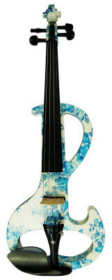Kinglos Full Size Colored Solid Wood Silent Violin