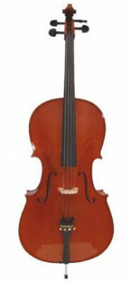 Merano MC400 Solid Wood Ebony Fitted Cello