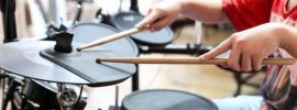 electronic or acoustic drums for beginner