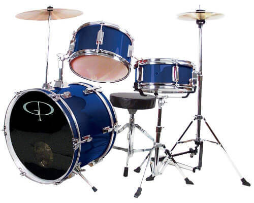 GP Percussion GP50 Complete Junior 3-Piece Drum Set