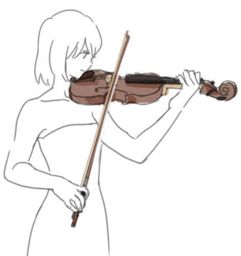 how to hold the violin
