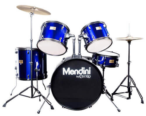 Mendini by Cecilio Complete Full Size 5-Piece Drum Set