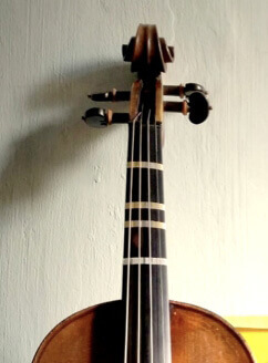 temporary frets on violin