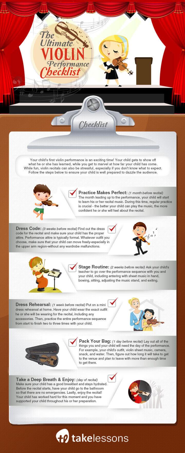 ultimate violin performance checklist