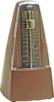 Soundlab Large Teak Effect Mechanical Metronome