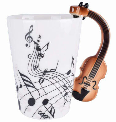 Violin Music Ceramic Mug