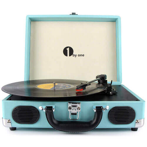 1byone Belt-Drive Briefcase Turntable