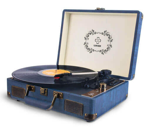 Luker AT-2 Portable Suitcase Bluetooth Turntable