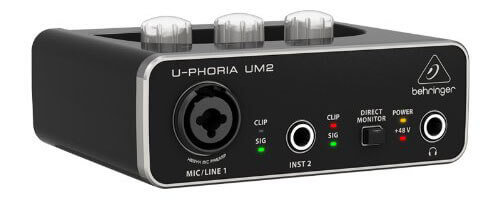 Behringer U-Phoria UM2 Audio Interface