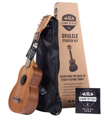 Kala Learn to Play Ukulele Soprano Starter Kit (KALA-LTP-S)