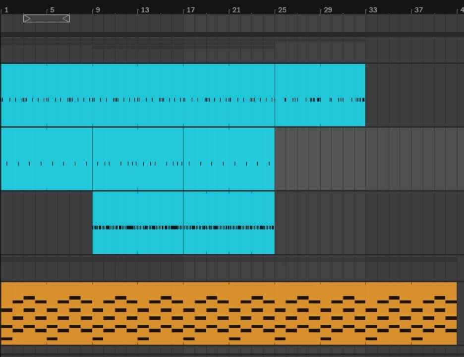 entering MIDI notes