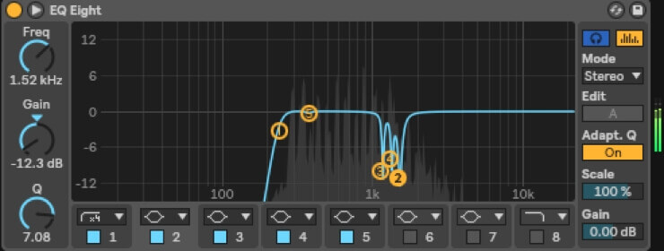 EQ for pad synth