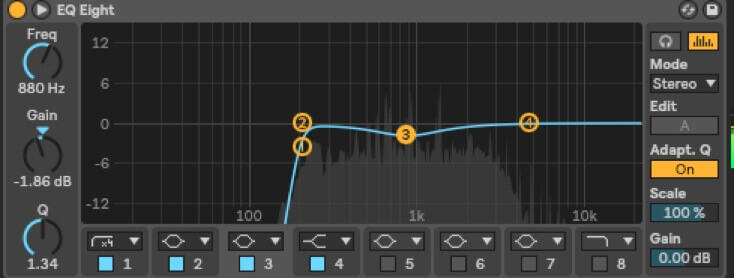 mixing the synth lead