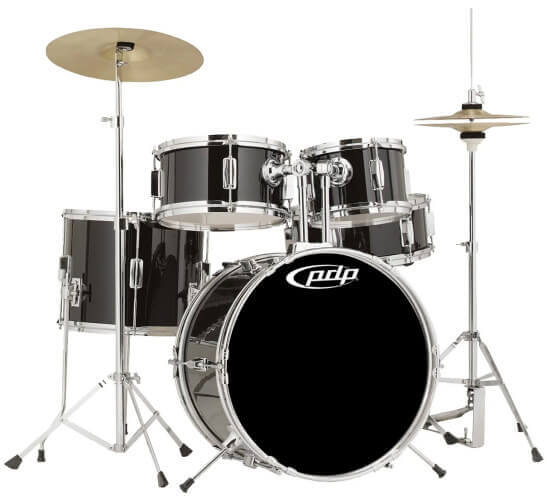 PDP Player 5-Piece Junior Drum Set (PDJR18KTCB)