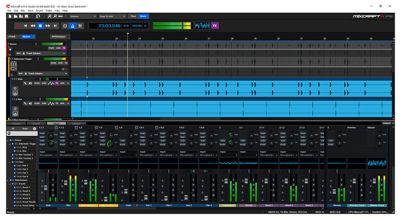Acoustica Mixcraft DAW Software