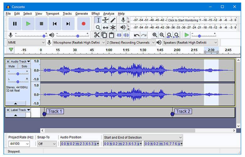 Audacity Audio Recording Software