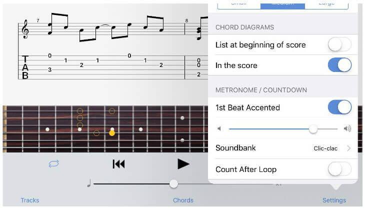 Guitar Pro tabs app