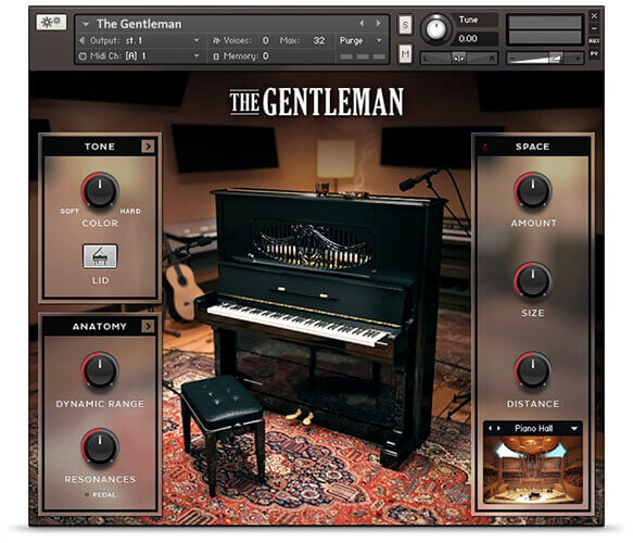 Native Instruments The Gentleman Upright Piano VST Plugin