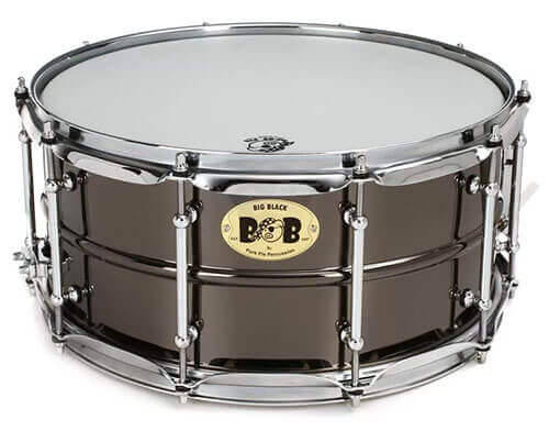 Pork Pie Percussion Big Black Brass Snare Drum